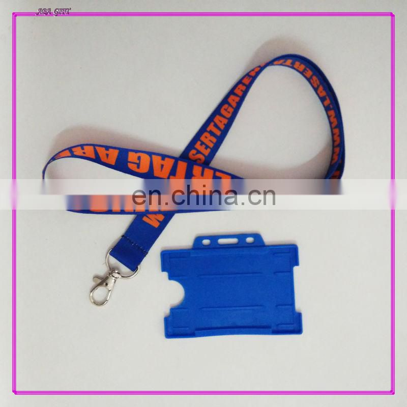Lanyard with badge holder/polyester lanyard with badge holder/lanyard screen printed with vertical shape ID card holder