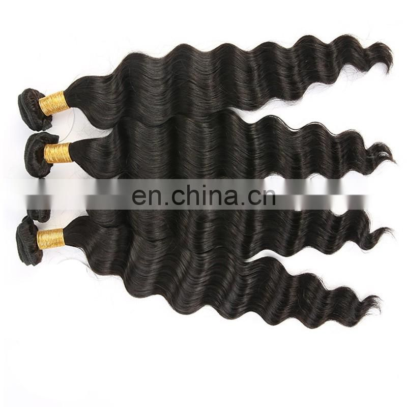 Wholesale price loose deep wave hair extensions top quality remy virgin peruvian hair weave