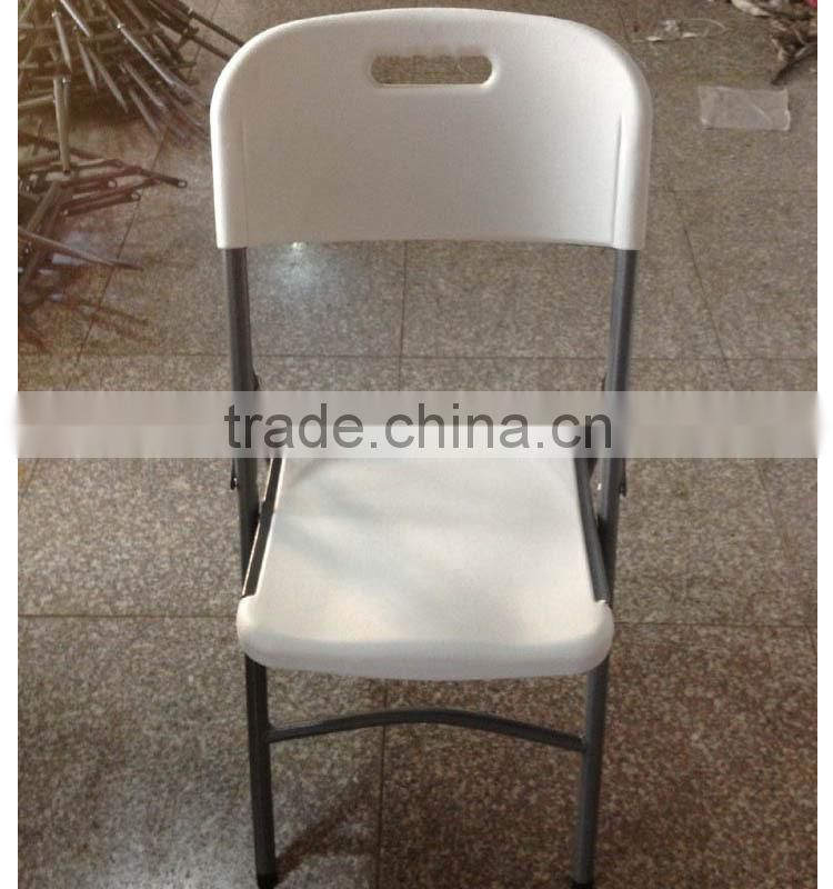 hot sale blow mold plastic folding wedding banquet foldable chair