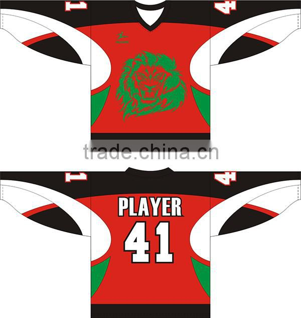 Excellent wholesale design sublimation ice hockey jersey