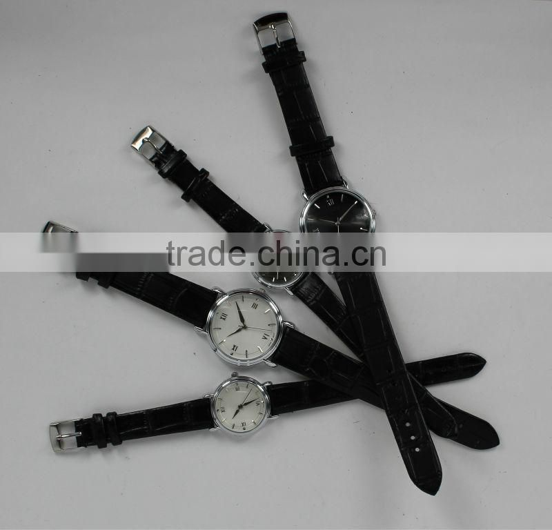 Elegance charm leisure sport casual promotional numeral leatheroid watches for both men and women