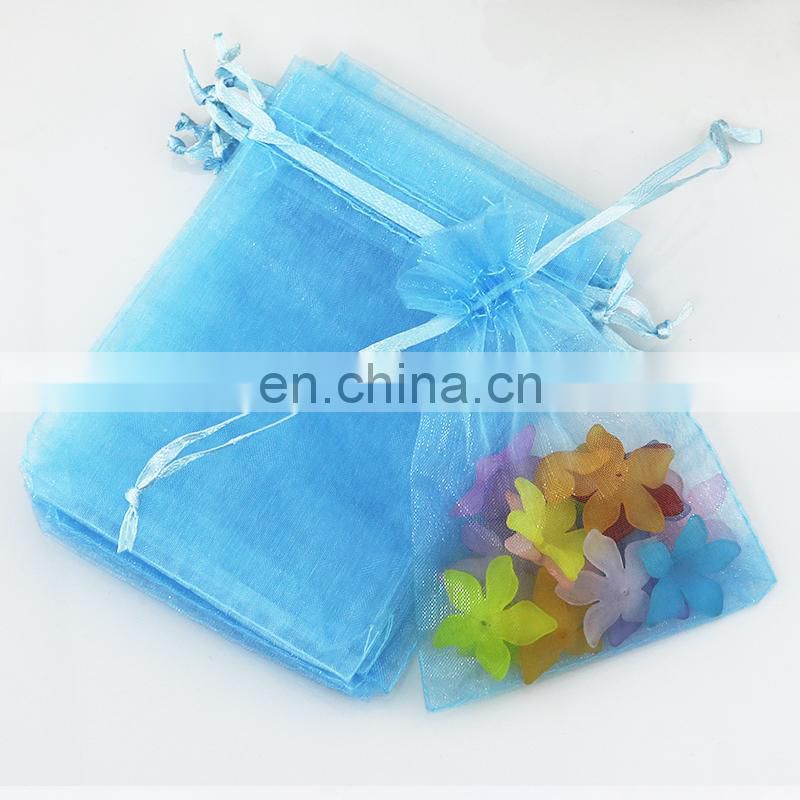 Custom organza drawstring pouch bag