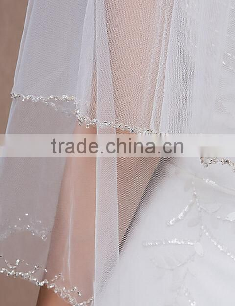Simple Elbow Beading Wedding Veil/veils for beautiful bridal/communion veils bridesmaid headpiece