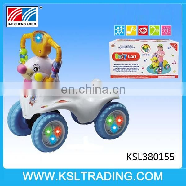 Free wheel baby car with music and light for children