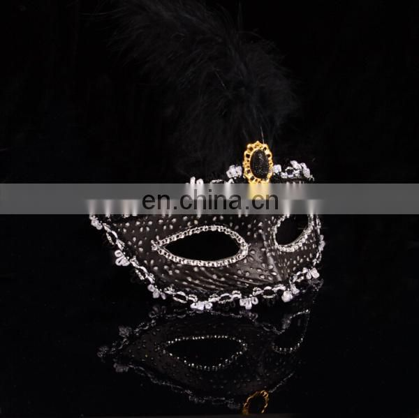 Custom Venetian Women Party Black And White Masquerade Masks