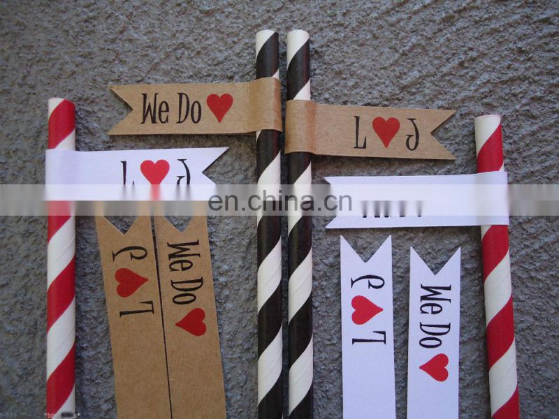 Flags Tags Personalised Wedding Birthday Party Flags for Straws