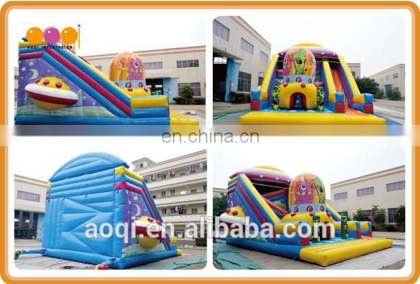 AOQI new inflatable attraction slide / commercial inflatable standard slide / dry slide for sale