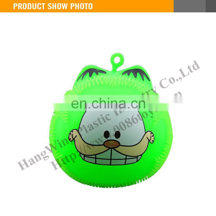 Funny flashing fluffy ball light up animal puffer ball