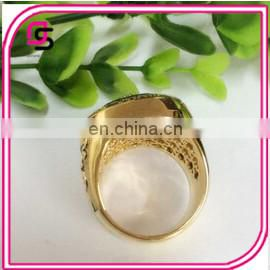 Cheap chaimpionship ring Fashion stainless steel gold plated chaimpion ring