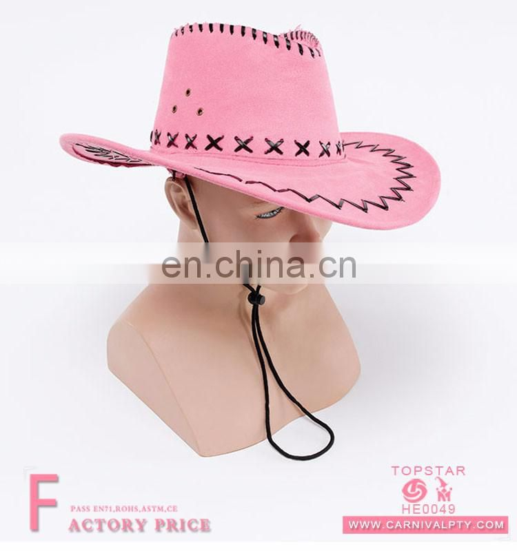 Women's Leather Cowboy Hat Juzz Sun Hat Lemmy