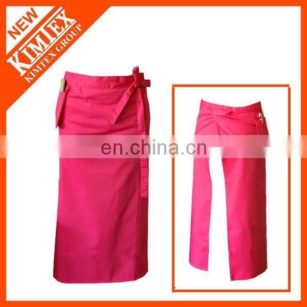 Promotion 100 cotton aprons printing with custom deisgn
