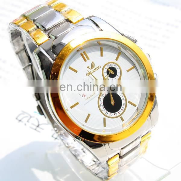Cheap Men Quartz Stainless Steel Back Sports Business Watch Chain Wrist Watches