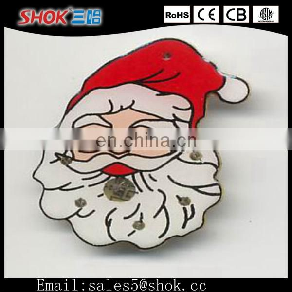 2015 New Novelty Different Design&Shape LED Display Badge/Cheap Custom Badge For Christmas Celebration