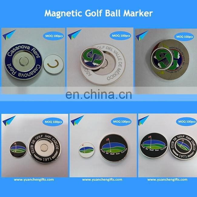 2016 free mold four leaf golf ball marker with magnetic hat clip for children gift