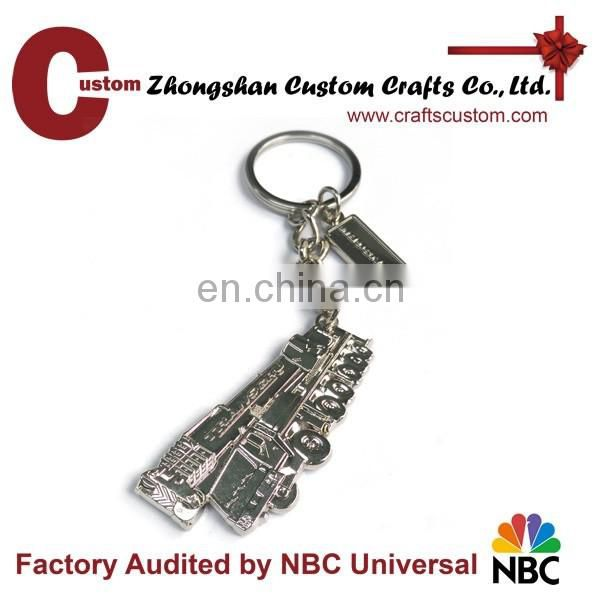 Wholesale cheap sand blank Sword Souvenir metal keychain