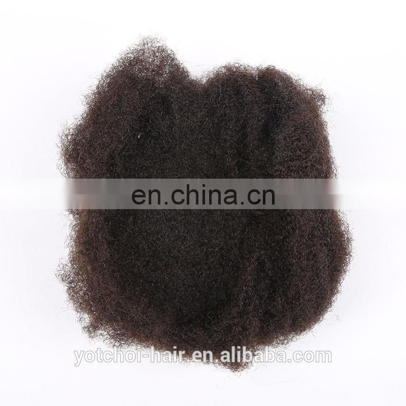 Best Selling!!!100% unprocessed 6A mongolian virgin afro kinky curl natural color hair weft remy human hair weaving
