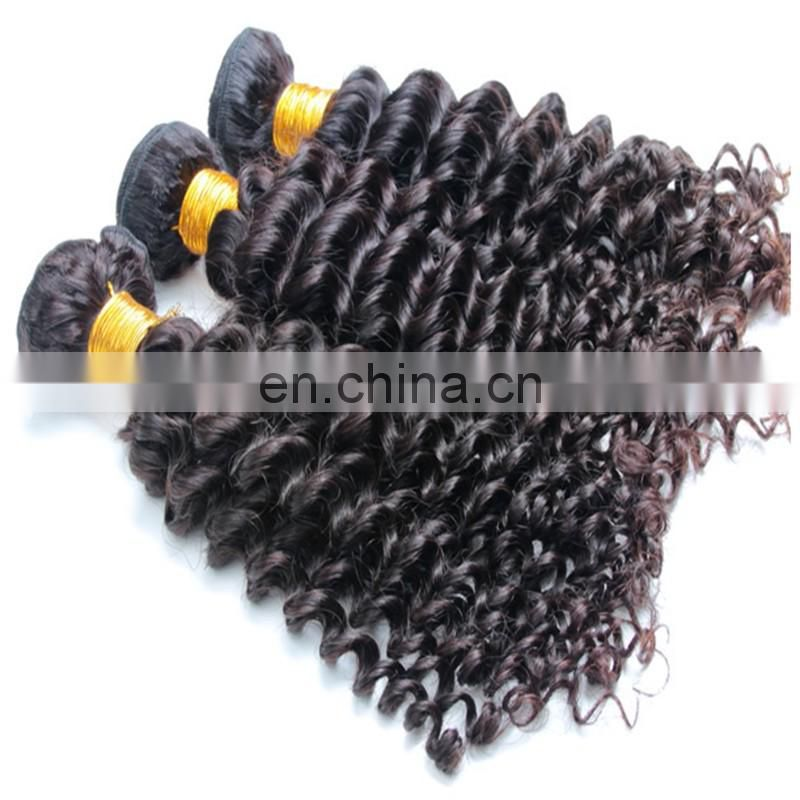 Hot sale natural human hair extension for black women short deep curly peruvian virgin hair bundles