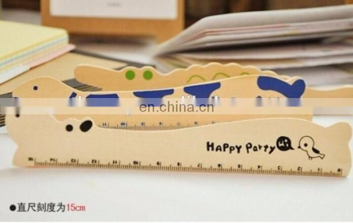 Cartoon Kids' Wood Ruler 6 inches