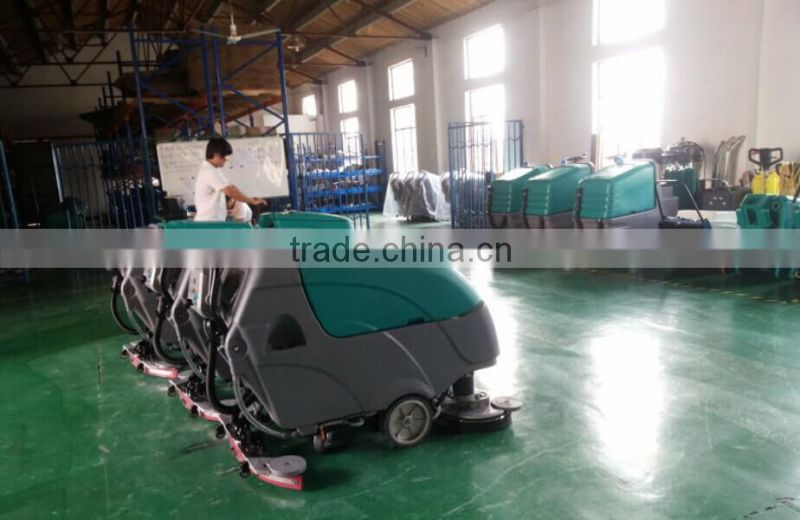 CE approved commercial micro walk behind floor cleaning machine.floor sweepe,degreasingr