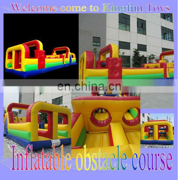 KF064 Inflatable obstacle course with slide