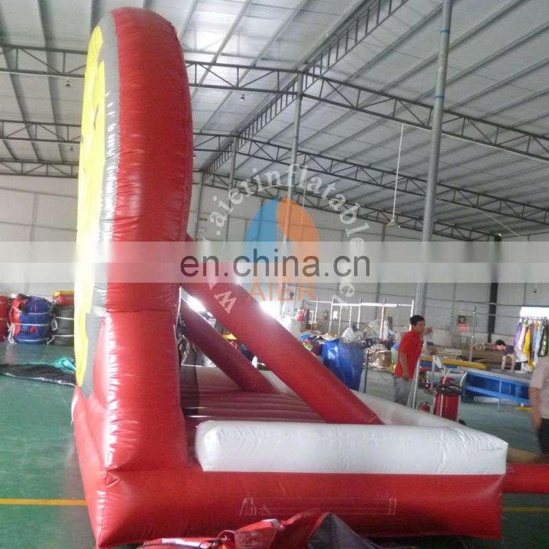 2017 best price pvc inflatable football shot / inflatable sport game for adult