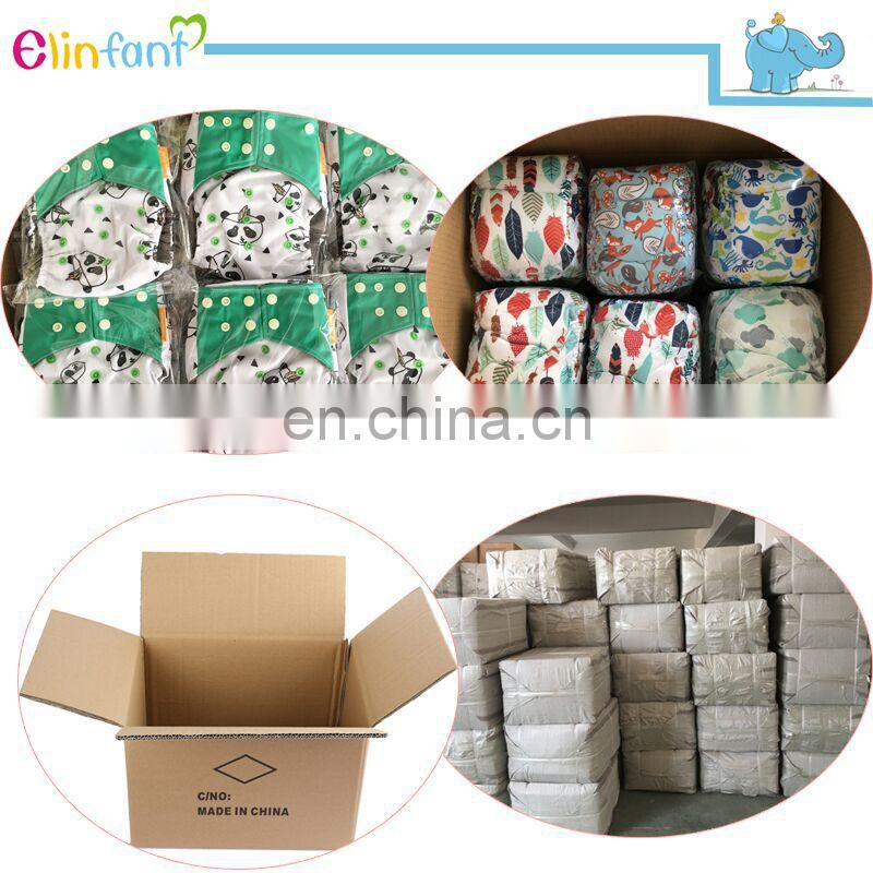 Elinfant baby infant newborn cloth diaper waterproof PUL reusable baby cloth diaper cover wholesale china