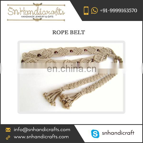 Exclusively Hand Made Braided Rope Belt for Purchase at Budget Price