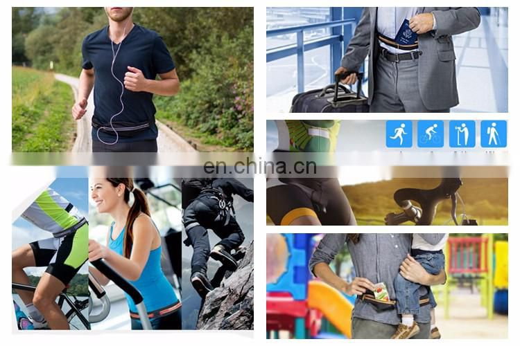 Outdoor Elastic Neroprene Waterproof Fanny Belt Pack For Any Smartphone Running Singlet Custom Design
