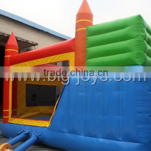 China Manufacture Durable PVC Tarpaulin Cheap Giant Inflatable Bouncer with Slide for Sale