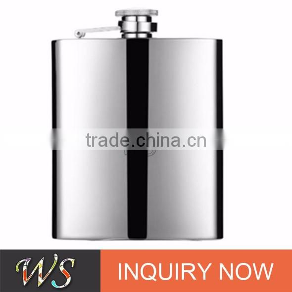 WSJJYY020 sanding polished quality assurance copper hip flask sets stainless steel hip flask/ liquor flask /drink pot