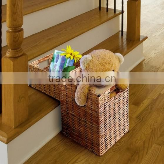 wholesale large willow House stair storage baskets or wicker step basket