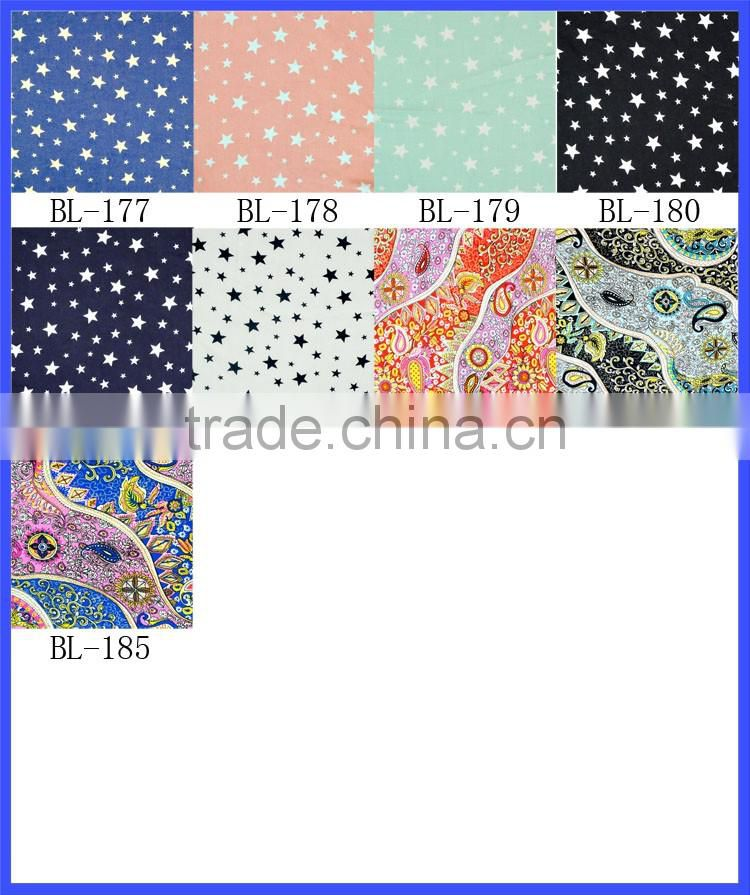 Summer Vintage Flower Print Fabric Material Textile For Sewing Dress Cloth Polyester Cotton Water Washing