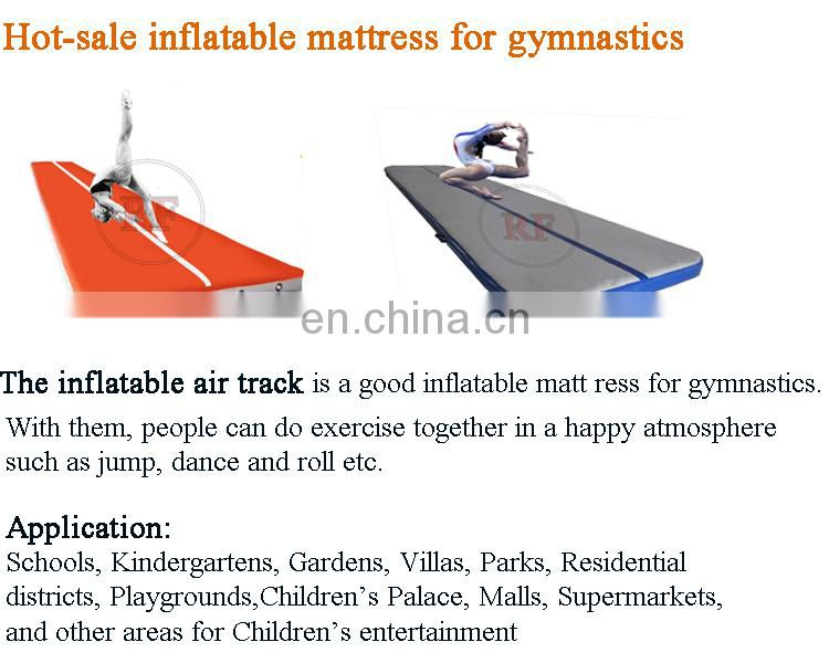 cheerleading inflatable air track, inflatable jumping mat, cheap gymnastic mats for sale IT65