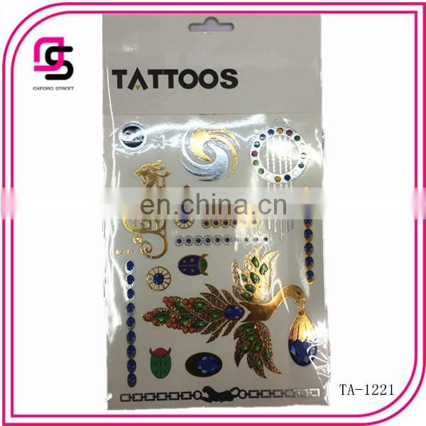 2015 colorful temporary tattoo sticker sold well in Europe and America market