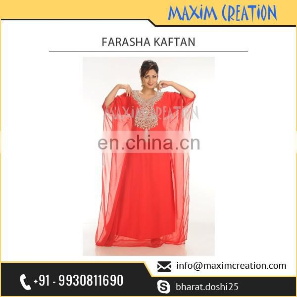 Party Wear Bright Colour Farasha Kaftan from Trusted Manufacturer