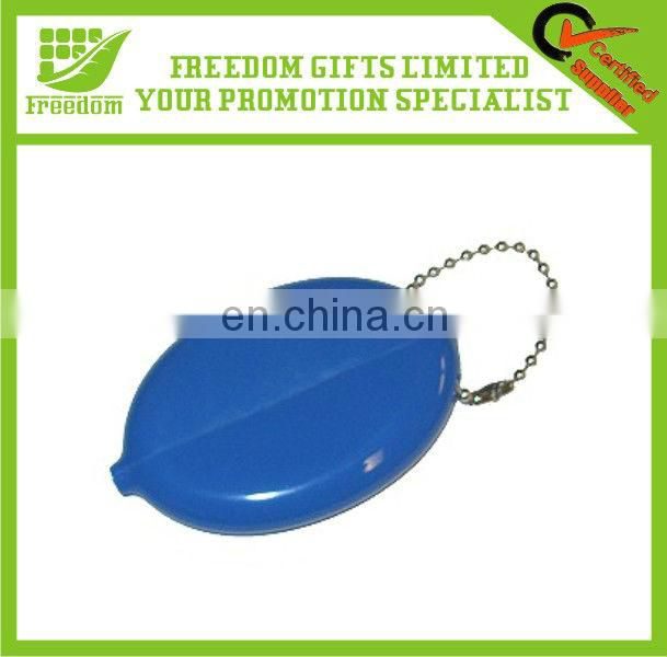Promotional Round Shaped Rubber Squeeze Coin Purse