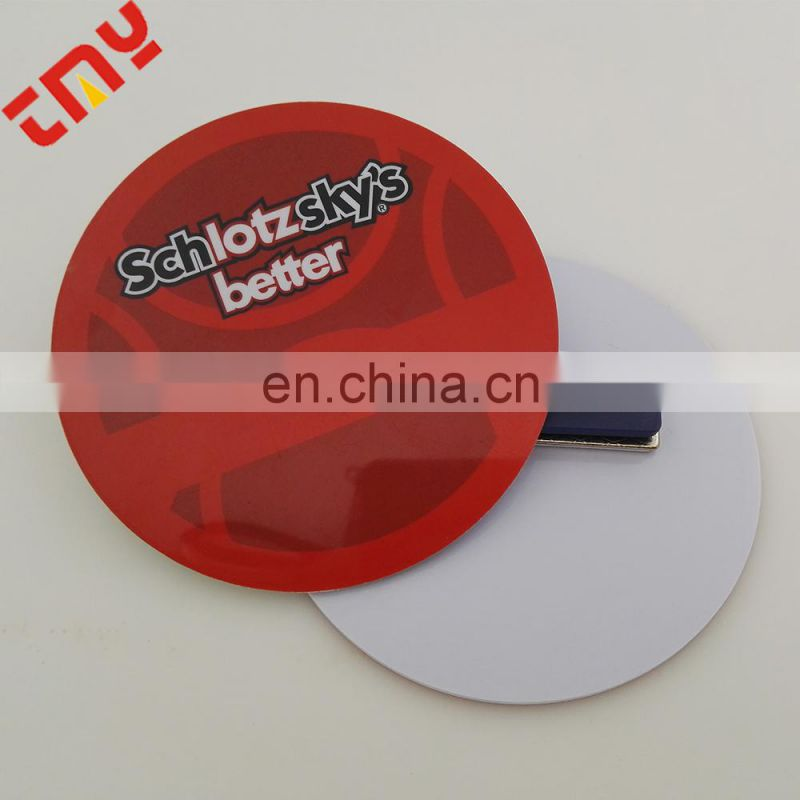 Plastic Pin Button Badge Maker , Blank Button Badge