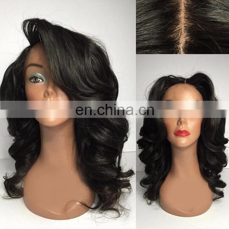 New Arrival Natural Black Lace Front Wig For Black Women With Silicone Silk Wig Cap Virgin Mongolian Hair Loose Body Wave Style