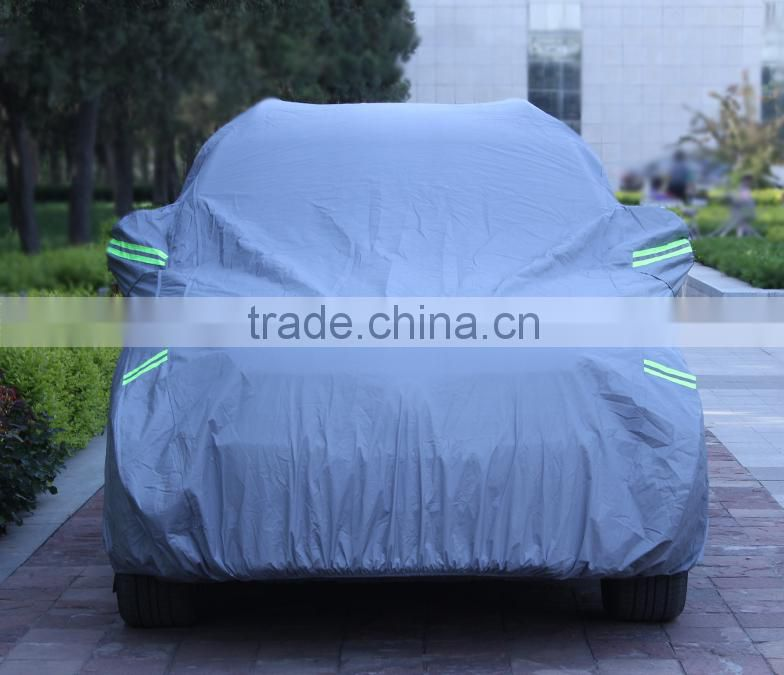 top rated UV protective hail proof anti theft car cover sun protection with reflective stripe