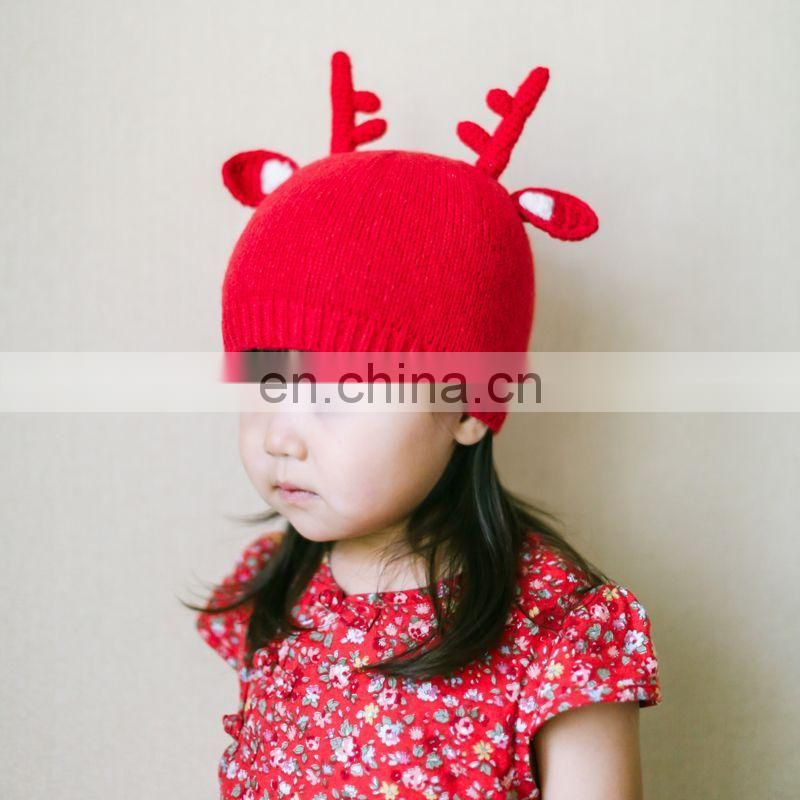 China Supplier Christmas EIK Cartoon Shape Childrens Hats
