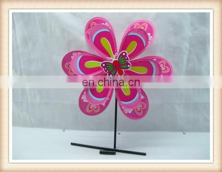 plastic sunflower windmills,toy windmills stick for kids