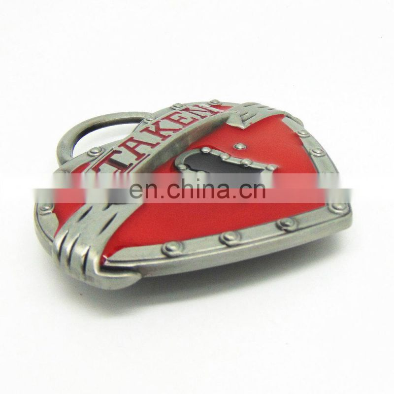 DSC06114 Top grade hot sale custom made zinc alloy heart shape belt buckles for wholesale Image