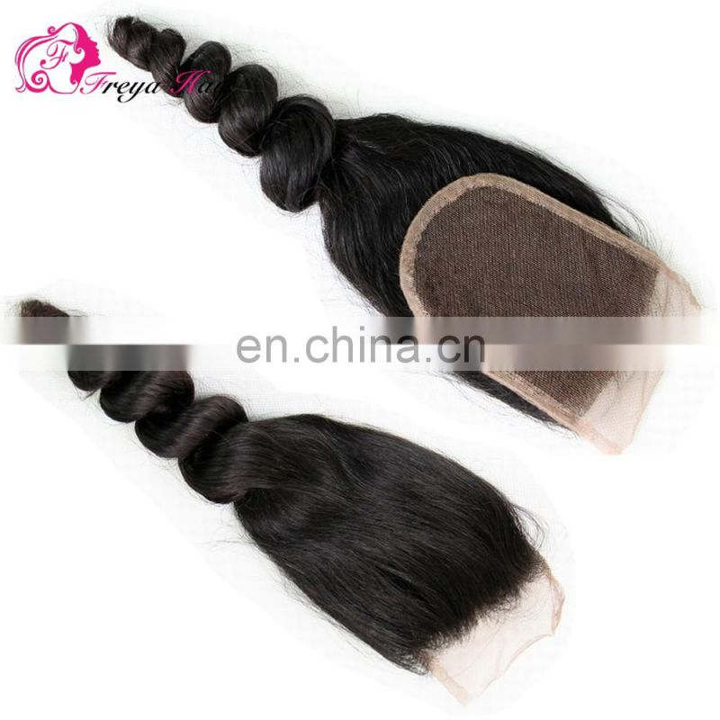Large stock fast delivery grade 7a loose wave lace closure alibaba india