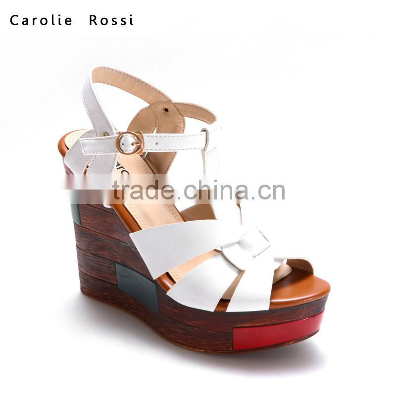 f3c1faaab213 ... 2016 latest design wedge sandals summer wood ladies wedge shoes Image  ...