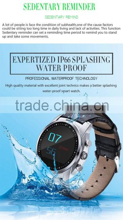 mechanical watch transparent caseback vogue watch man round smart watch with camera