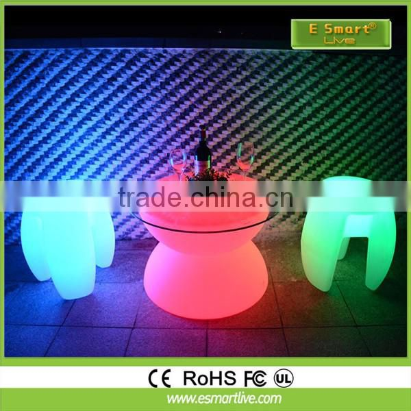 LED Lighting Remote control modern bar furniture LED bar stool