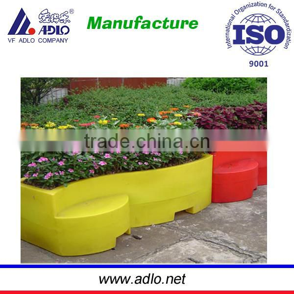2015 LLDPE rotomolding water filll turquoise large flower pots wholseale