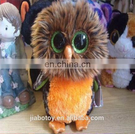 Owl mascot TY beanie boos collection collection beanie big eyes stuff doll toy 6 inches owl midnight