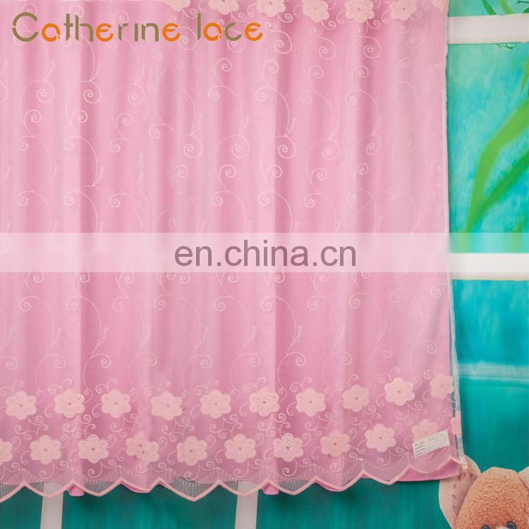 Catherine Market Price Fashionable Embroidery Jacquard Window Curtain Fabric