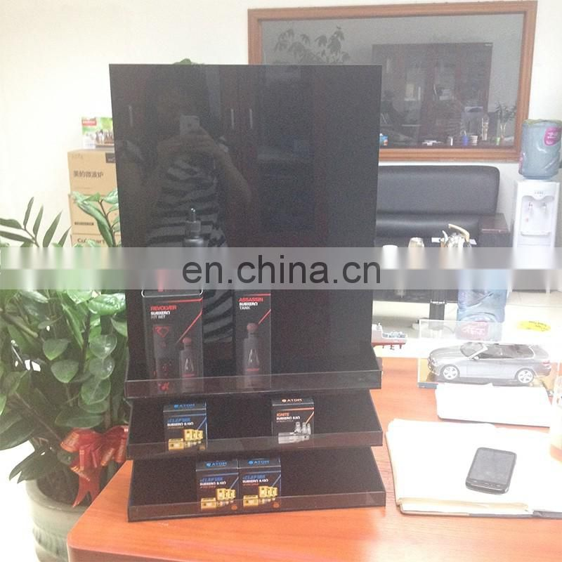 hot sale black acrylic cigarette counter display for trade show